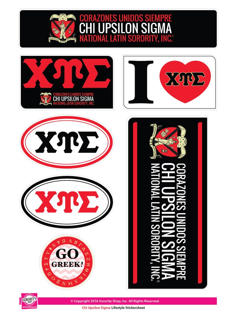 "Chi Upsilon Sigma <br> ""Colors"" stickers"