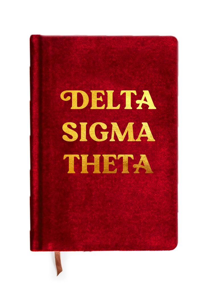 Delta Sigma Theta Notebook with Gold Foil Imprint