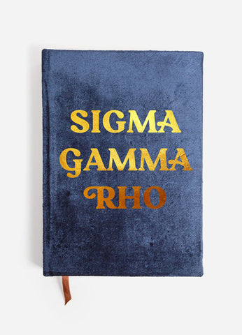 Sigma Gamma Rho Notebook with Gold Foil Imprint