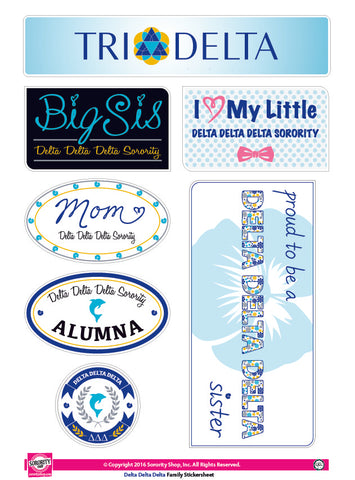 Delta Delta Delta <br> Family Stickers