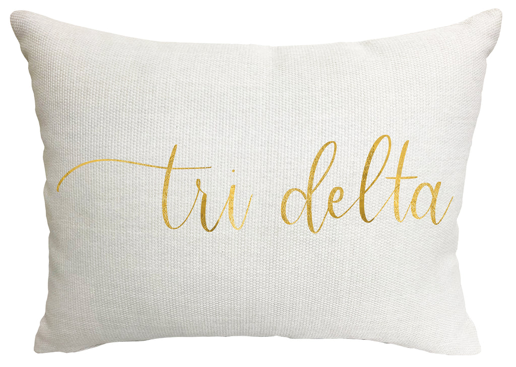 Delta Delta Delta Throw Pillow