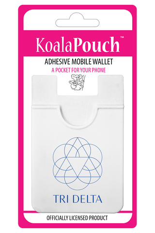 Delta Delta Delta<br> Koala Pouch<br>Adhesive wallet for your phone
