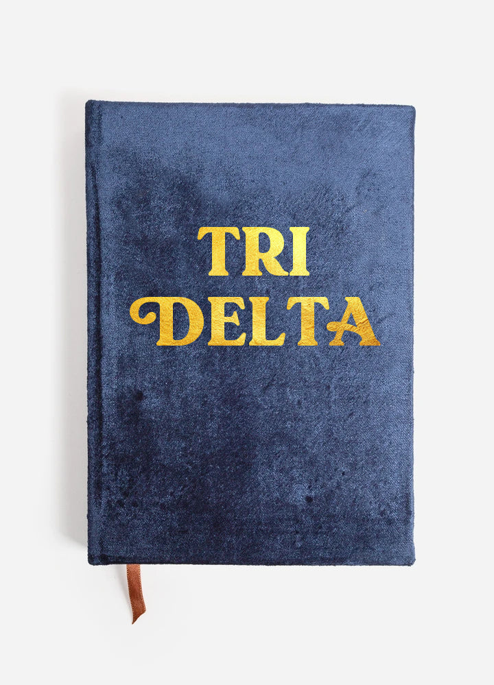 Delta Delta Delta Velvet Notebook with Gold Foil Imprint