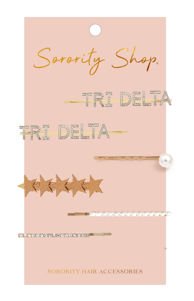 Delta Delta Delta Sorority Hair Clips