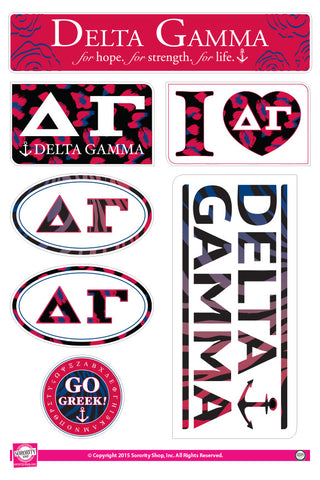 Delta Gamma <br> Animal Print Stickers