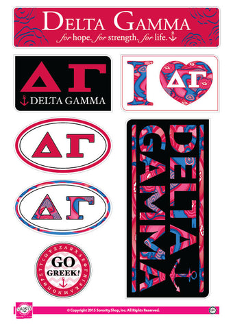 Delta Gamma <br> Lifestyle Stickers