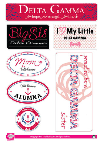 Delta Gamma <br> Family Stickers