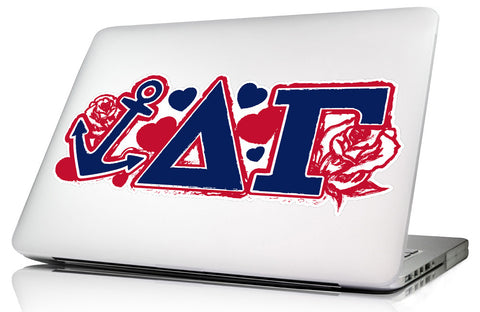 Delta Gamma <br>11.75 x 5 Laptop Skin/Wall Decal