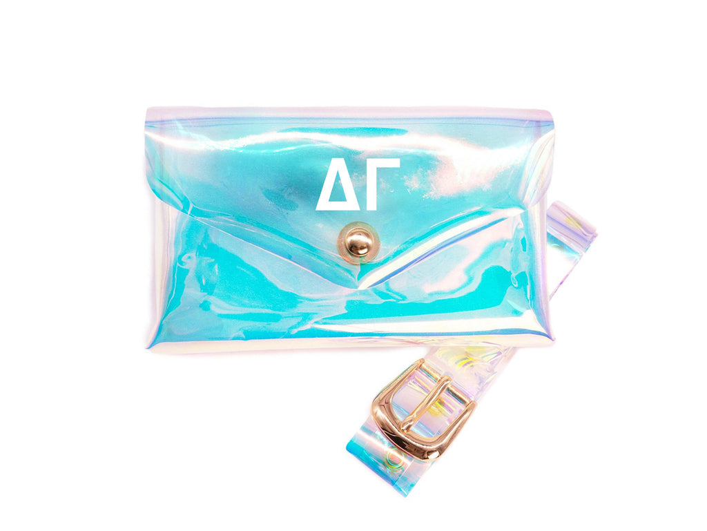 Delta Gamma Holographic Belted Fanny Pack