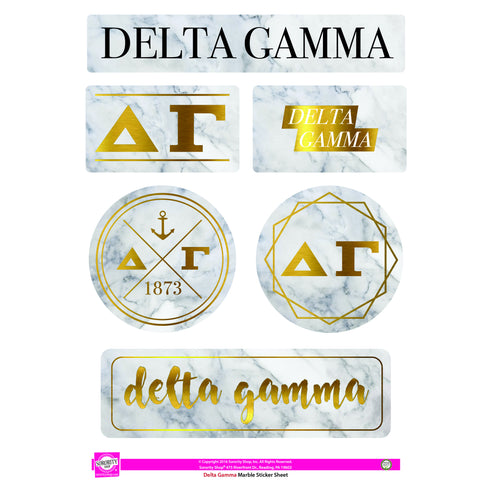 Delta Gamma <br> Marble Sticker Sheet