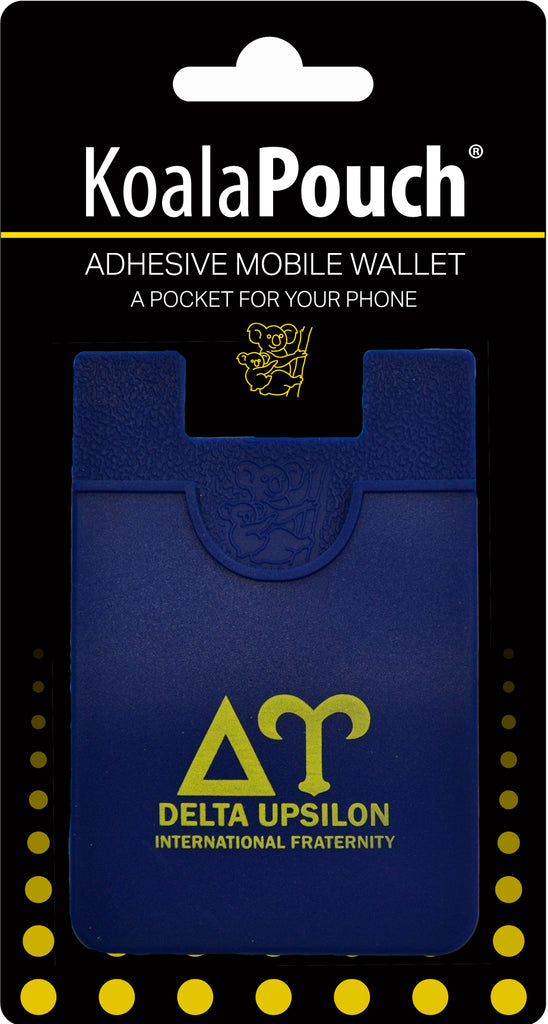 Delta Upsilon <br> Koala Pouch<br>Adhesive wallet for your phone