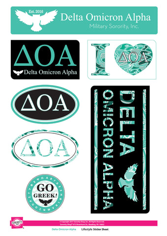 Delta Omicron Alpha <br> Lifestyle Stickers