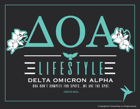 Delta Omicron Alpha <br> Lifestyle Poster