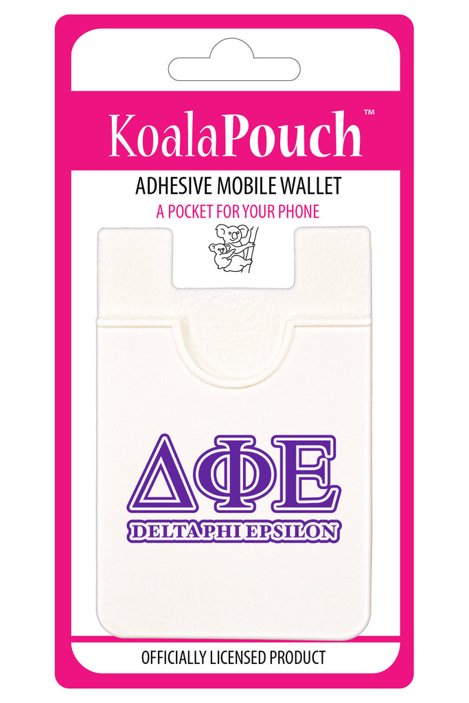 Delta Phi Epsilon<br> Koala Pouch<br>Adhesive wallet for your phone