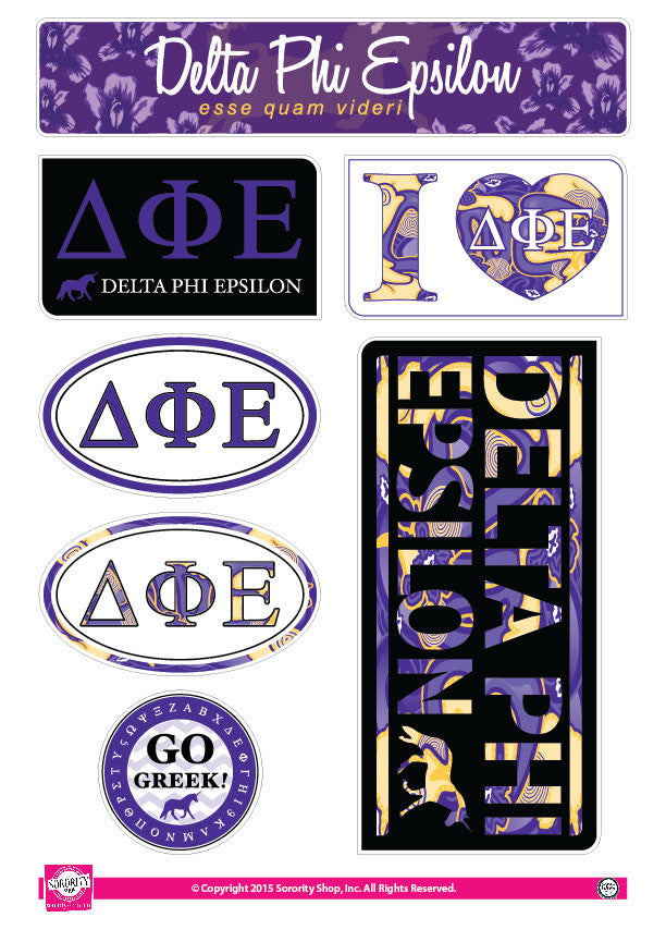Delta Phi Epsilon <br> Lifestyle Stickers