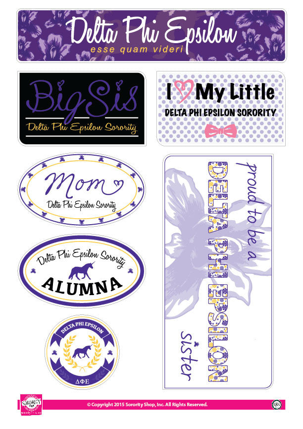 Delta Phi Epsilon <br> Family Stickers