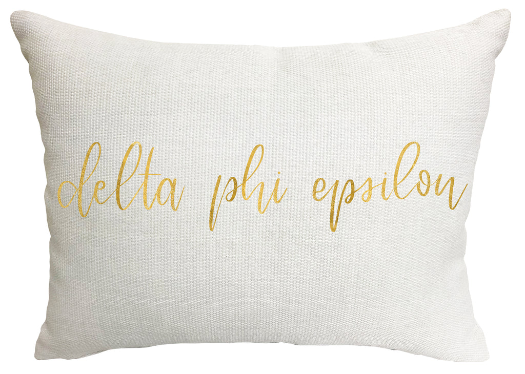 Delta Phi Epsilon Throw Pillow