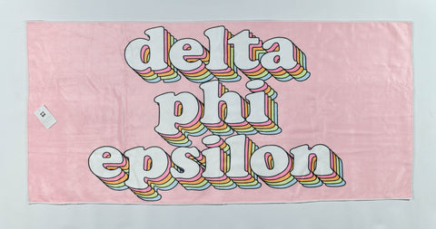 Delta Phi Epsilon Plush Retro Beach Towel