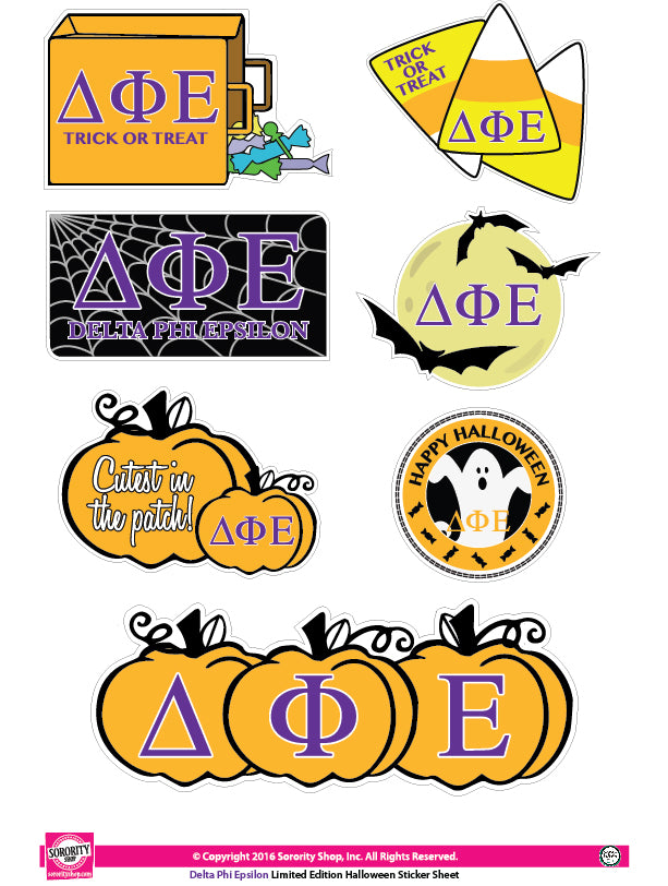 Delta Phi Epsilon <br> Halloween Stickers