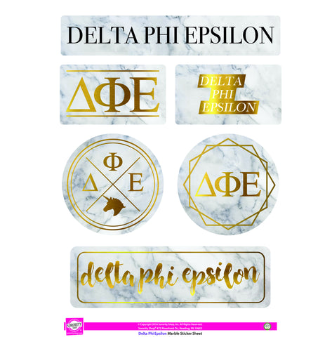 Delta Phi Epsilon <br> Marble Sticker Sheet