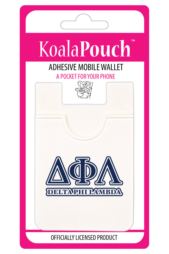 Delta Phi Lambda<br> Koala Pouch<br>Adhesive wallet for your phone