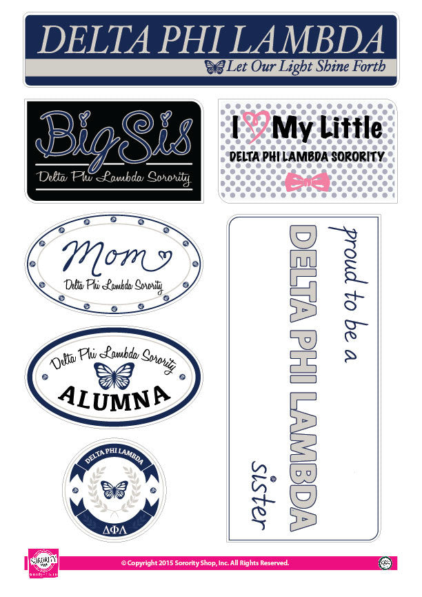Delta Phi Lambda <br> Family Stickers