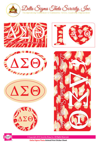 Delta Sigma Theta <br> Animal stickers