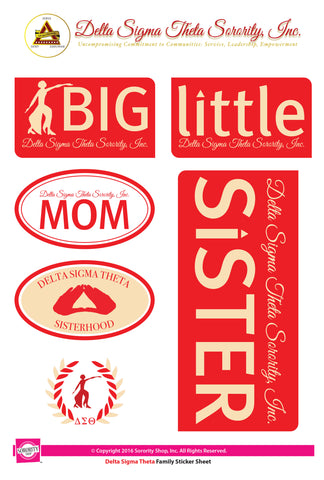 Delta Sigma Theta <br> Family stickers