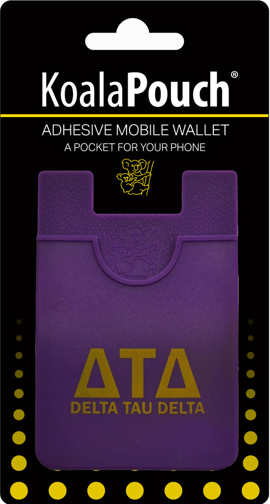 Delta Tau Delta <br> Koala Pouch<br>Adhesive wallet for your phone