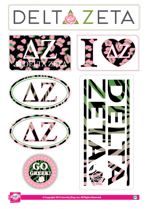 Delta Zeta <br> Animal Print Stickers