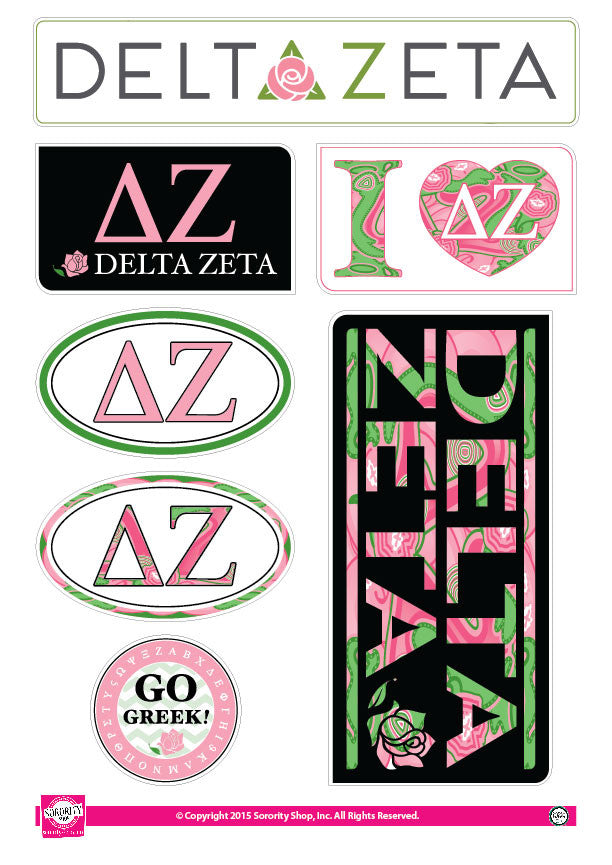 Delta Zeta <br> Lifestyle Stickers