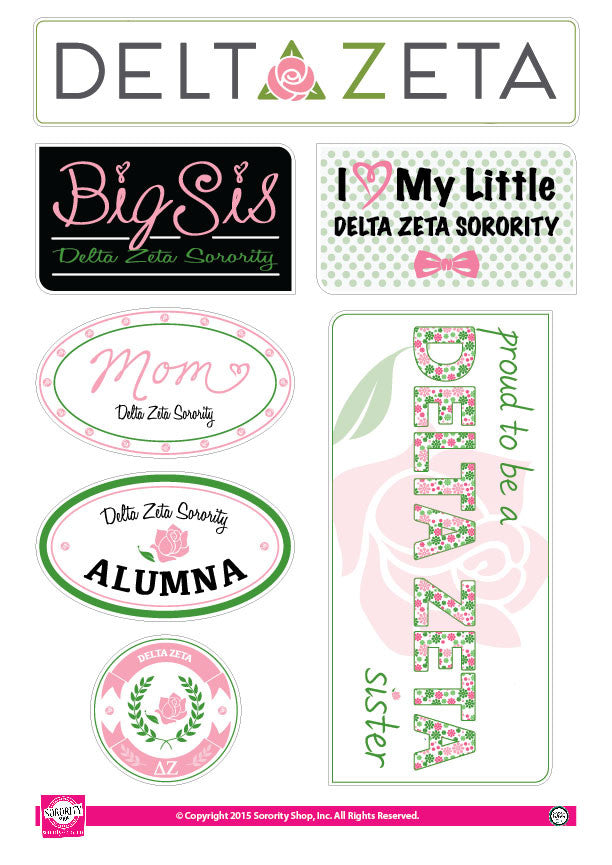 Delta Zeta <br> Family Stickers
