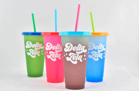 Delta Zeta Color Changing Cups (Set of 4)