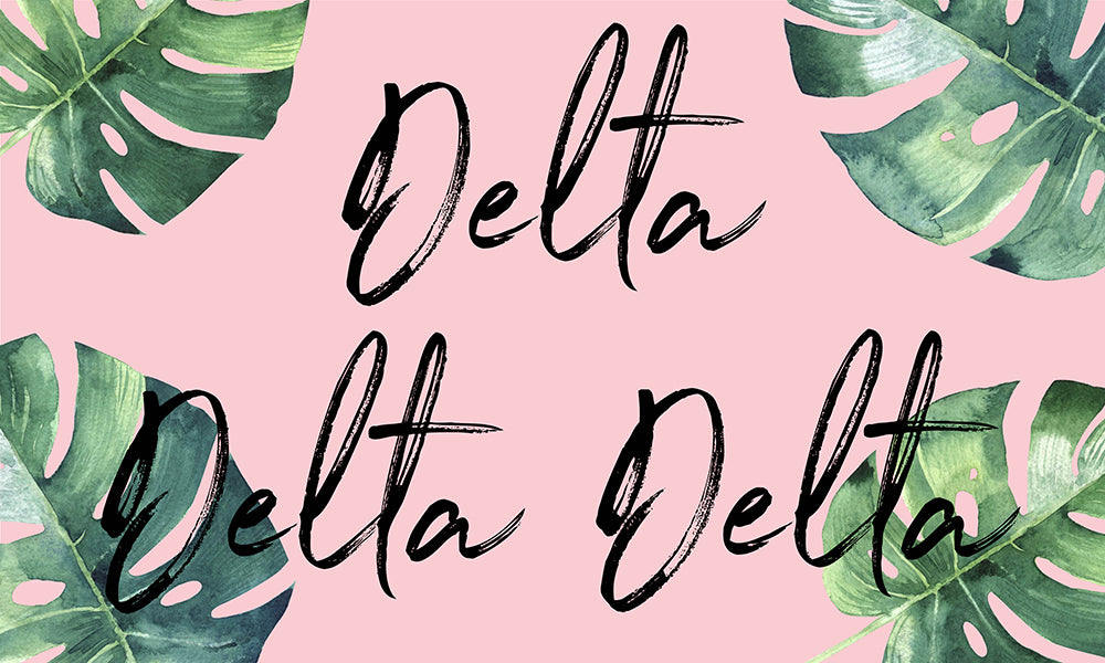 Tri Delta Tropical Flag