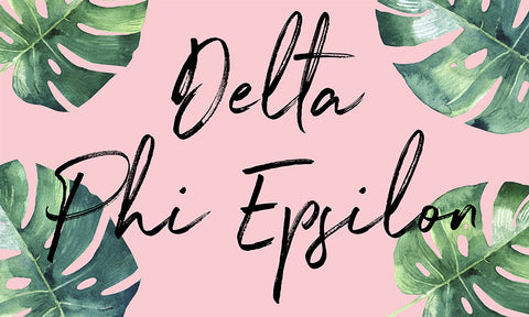 Delta Phi Epsilon Tropical Flag