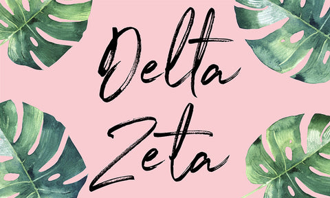 Delta Zeta Tropical Flag