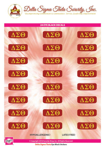 Delta Sigma Theta Eye Black Decals