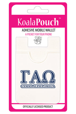 Gamma Alpha Omega <br> Koala Pouch<br>Adhesive wallet for your phone