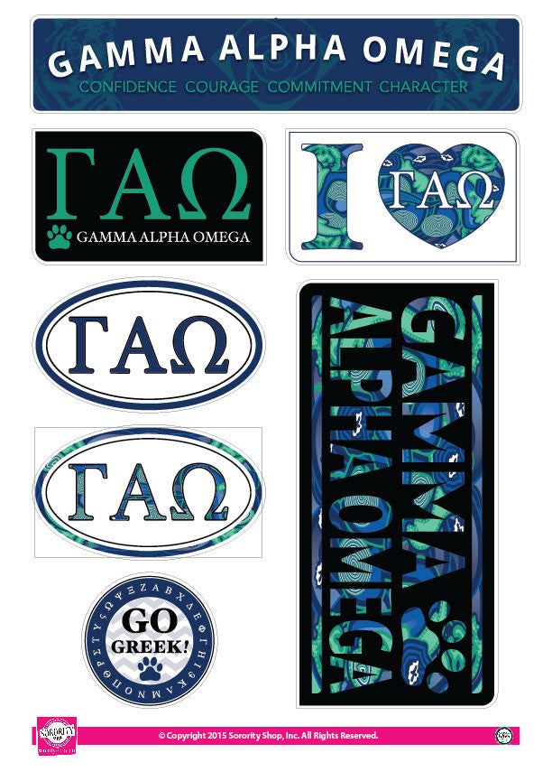 Gamma Alpha Omega <br> Lifestyle Stickers