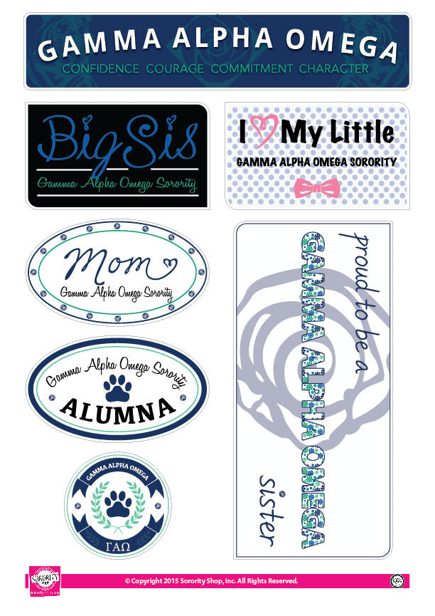 Gamma Alpha Omega <br> Family Stickers