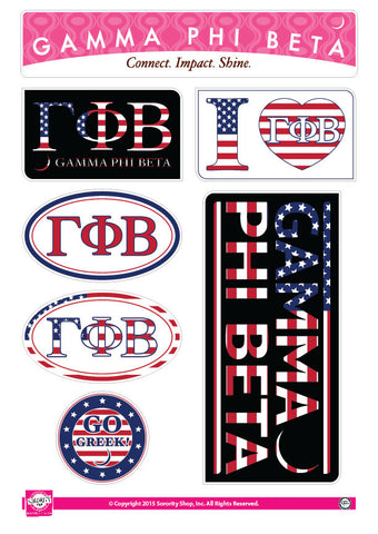 Gamma Phi Beta <br> American Stickers