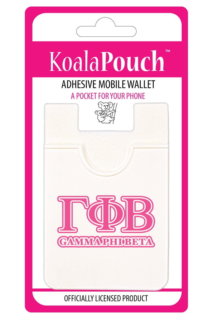Gamma Phi Beta <br> Koala Pouch<br>Adhesive wallet for your phone