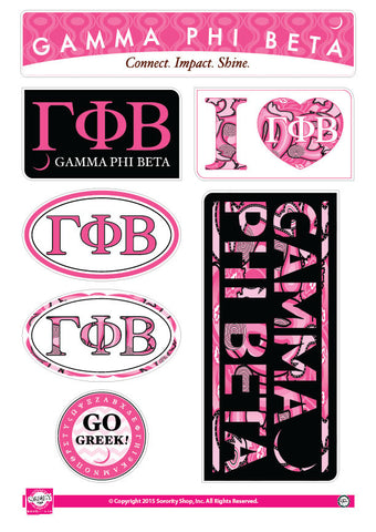 Gamma Phi Beta <br> Lifestyle Stickers