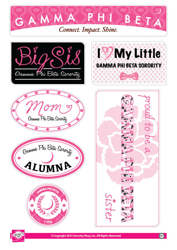 Gamma Phi Beta <br> Family Stickers