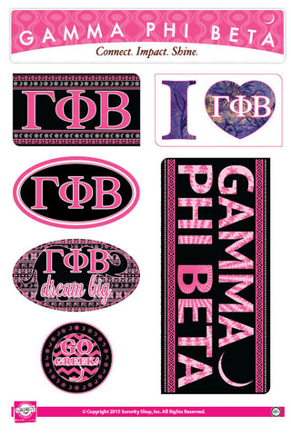 Gamma Phi Beta <br> Bohemian Stickers
