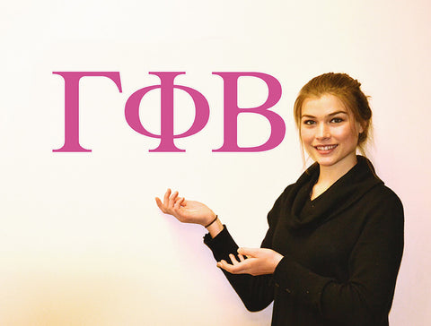 Gamma Phi Beta <br> Jumbo Letter Decals