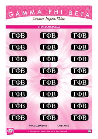 Gamma Phi Beta Eye Black Decals