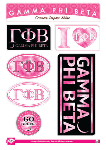 Gamma Phi Beta <br> Tie Dye Stickers
