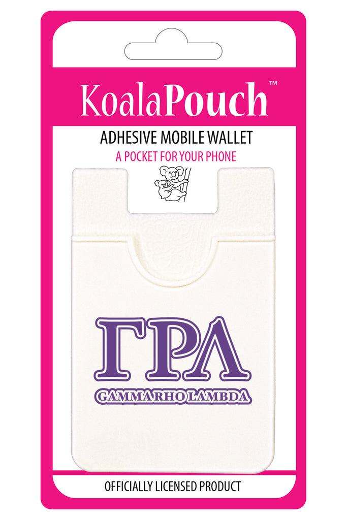 Gamma Rho Lambda <br> Koala Pouch<br>Adhesive wallet for your phone