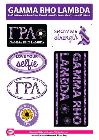 Gamma Rho Lambda <br> Chevron Stickers